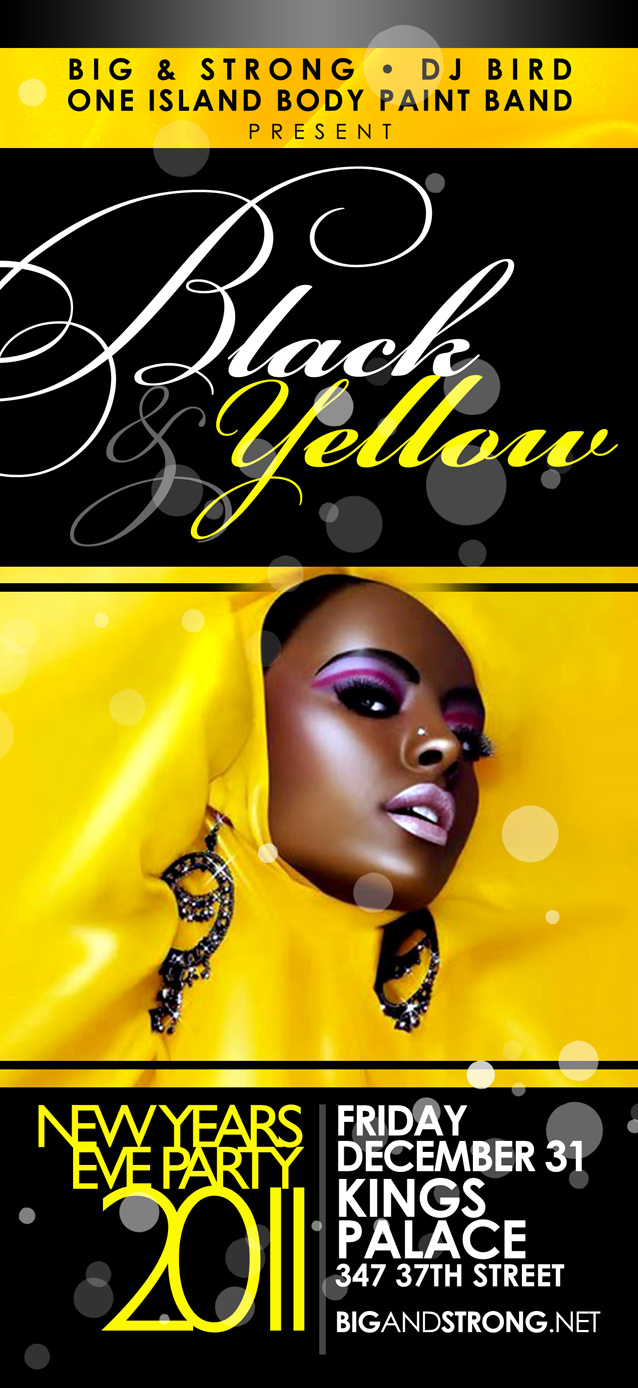 Flyer Design for Black & Yellow New Years Eve event. | Brooklyn, New ...: www.amcreativegroup.net/?p=738