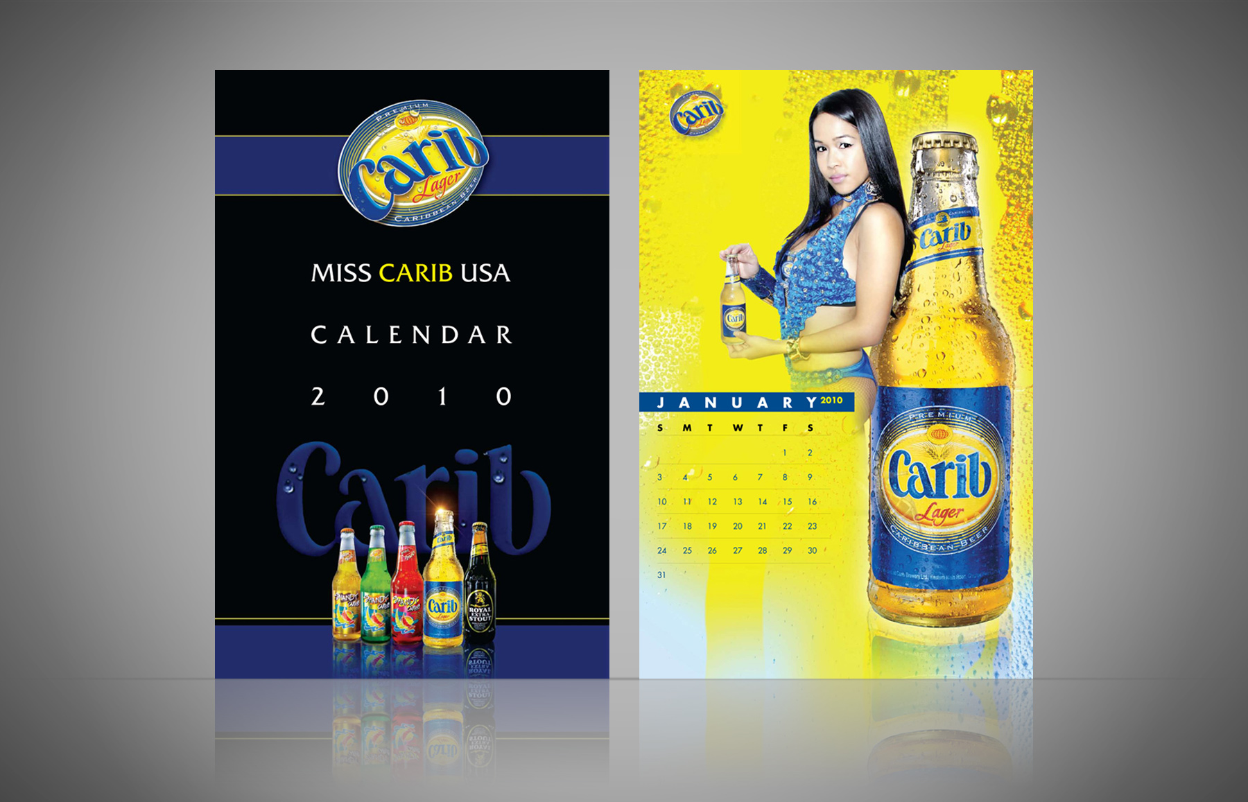 Miss Carib Beer USA Calendar