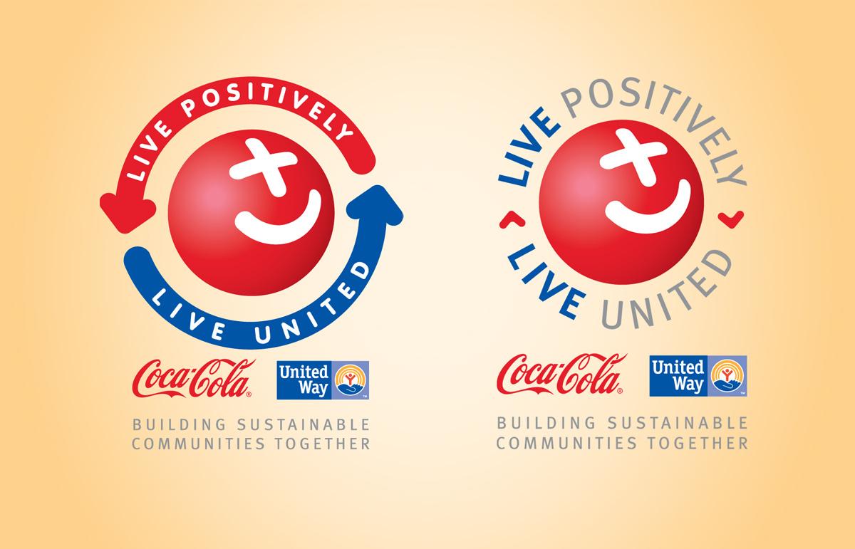 Coca Cola Live Positively Logos