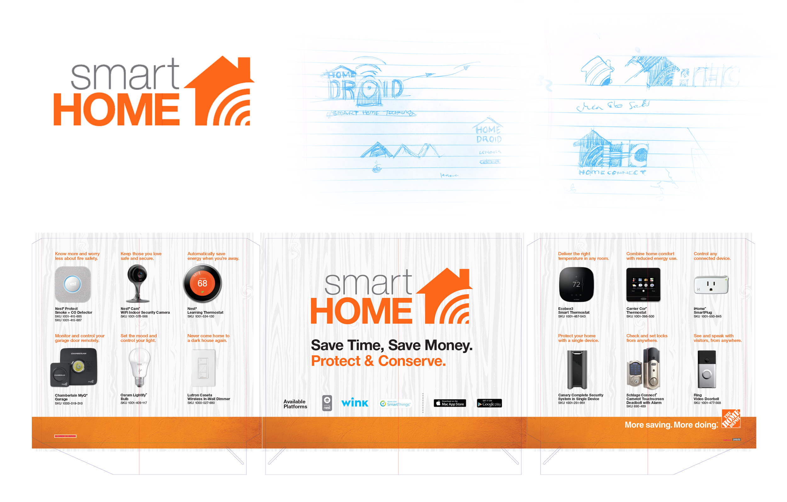 home depot smart home logo am creative group. Black Bedroom Furniture Sets. Home Design Ideas