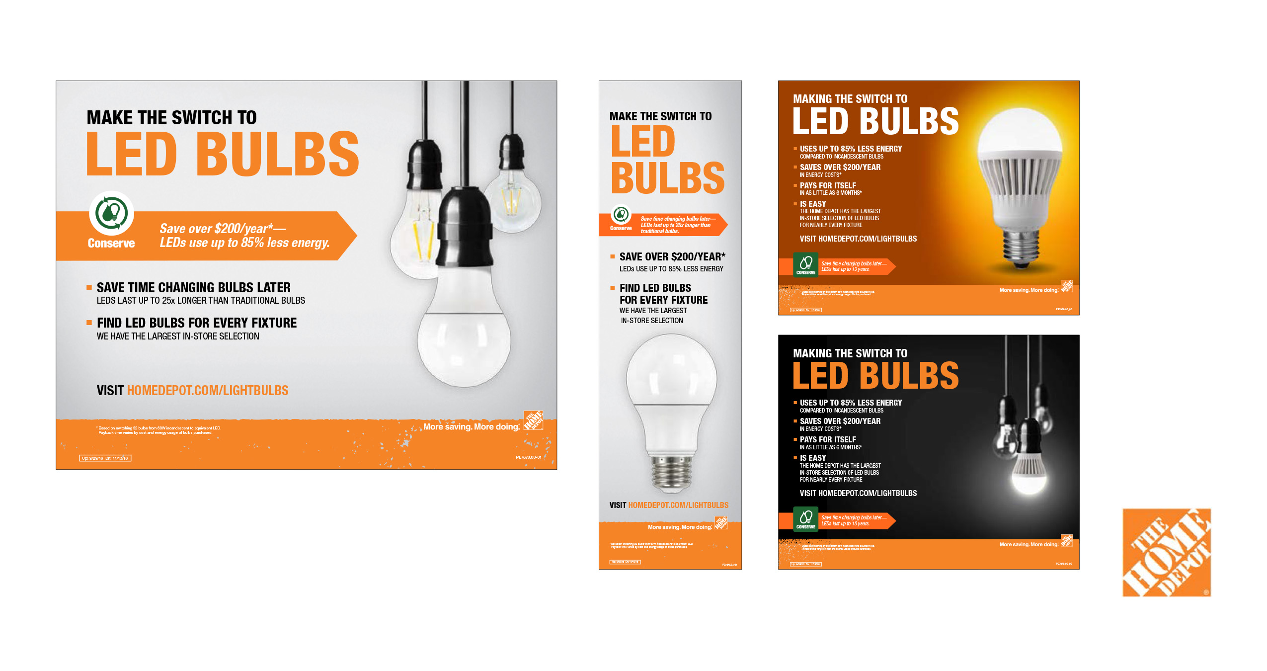 Home Depot LED Bulbs