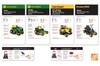 Home Depot | Tractor Mower Product Cards